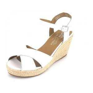 TOM TAILOR Damen Keil-Sandaletten Weiß, Schuhgröße:EUR 38