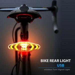 LED Fahrrad Fahrrad Blinker Heck Heck Laser Blinker Licht Wireless Remote USB