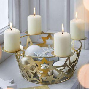 Adventskorb Sterne Tischdeko Adventskranz Weihnachten XMAS L27 x B27 x H13 cm