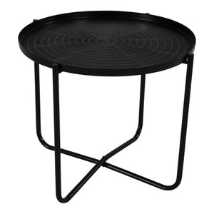 Beistelltisch Tisch Design Metall ø40,5x35cm (schwarz) edel