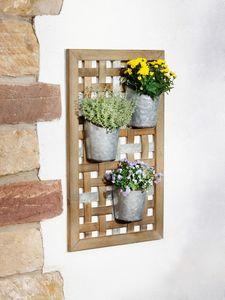 Wand-Pflanzer 'Geflecht', 4tlg. Garten Terrasse Blumen Pflanze Natur Balkon