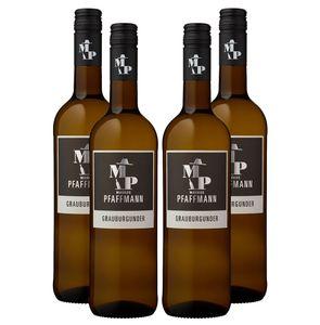 Markus Pfaffmann - 4er Set Grauburgunder 2019 - Pfalz / Deutscher Qualitätswein - Trocken 0,75L (12,5% Vol) -[Enthält Sulfite]