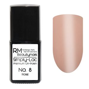 10ml Premium Soak Off Shellac Farbe No 8 Rose Rosa  UV-Polish