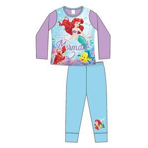 Disney Mädchen Schlafanzug mit Arielle-Motiv 572 (116) (Violett/Blau)