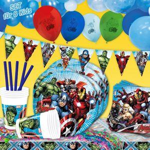 The Avengers - Mottopartyset XL, 130-teilig