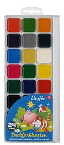 Läufer Deckfarbkasten 24 Farben aus Kunststoff