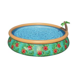 "Bestway Fast Set™ Pool-Set mit Filterpumpe ""Paradise Palms"", rund, 457x84cm, 57416"