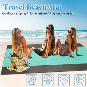 2x2.1mStranddecke Outdoor Picknickdecke Große Sandfreie Wasserfeste Strandmatte