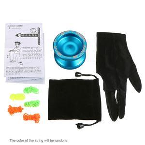 Magie Yoyo V3 Responsive High-Speed-Aluminium-Legierung Yo-yo CNC-Drehmaschine mit Spinning String fuer Jungen-Maedchen-Kind-Kind-Blau