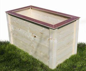 Elmato 14862 aufgebautes Hochbeet - Gemüsebeet Kräuterbeet Schreineranfertigung,  Mäusegitter 119x75x83cm