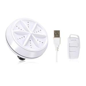 USB Mini Waschmaschine tragbare rotierende Ultraschall-Turbowaschanlage 3-in-1, Wäsche Artefakt Weiß