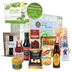 Vegane Weltreise Geburtstags Geschenkset | Veganes aus aller Welt | Vegan schenken | Vegane Süßigkeiten zum Geburtstag Geschenk für Männer Frauen