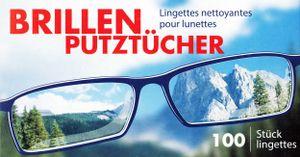 100x BRILLEN PUTZTÜCHER Brillenputztücher Brillentuch Reinigung Putz Tücher 46