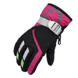 draussen Skihandschuhe für Kinder wasserdicht Winterwarme Handschuhe Einheitsgröße schwarz