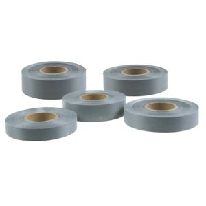 5m Reflexband zum Annähen, grau, Breitenwahl - Reflektorband reflektierend, Größe:40mm