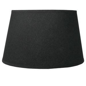 Lampenschirm für E14 E27 Fassungen schwarz Leinenoptik 21 cm  Polyester/Baumwolle