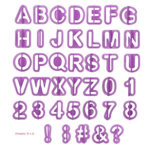 Fondant Ausstecher Buchstaben Zahlen Werkzeug Zubehör für Formen Ausstechformen Fondantausstecher Cutter  Fondantwerkzeug Set
