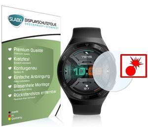 """2x Slabo Panzerschutzfolie für Huawei Watch GT 2e KLAR """"Shockproof"""" (verkleinerte Folien) Displayfolie Schutzfolie Folie"""