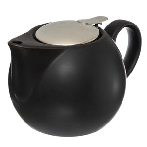 Teekanne mit Sieb 750 ml weiß - Secret de Gourmet, Farbe:schwarz
