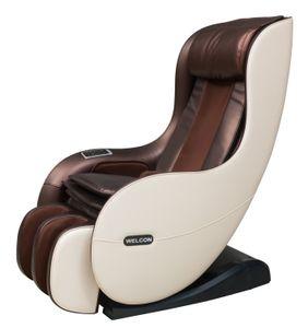 WELCON Massagesessel EASYRELAXX BEIGE / BRAUN - 3D Massagestuhl mit Neigungsverstellung elektrisch