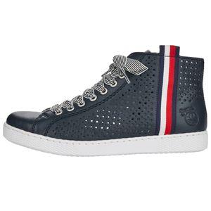 Rieker Damen Stiefeletten Boots Z1228-14, Größe:40 EU, Farbe:Blau
