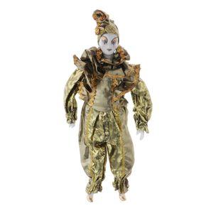 42cm Porzellanpuppe Clownmann Keramik Puppe Sammlerstück Handwerk Dekoration Gold Clown-Puppe wie beschrieben