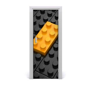 Tulup Türaufkleber 75x205 cm Dekorative Aufkleber Selbstklebend Wasserdichte Tapete Abnehmbar Schlafzimmer Wohnzimmer Wohnkultur - Lego Wand