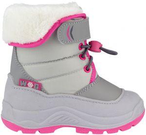 Winter-grip Kinder Schneestiefel Jr Hoppin´ Bieber Hellgrau/Grau/Rosa Winter-Schuhe, Größe:24