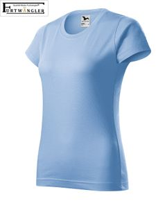 T-Shirt Himmelblau L Damenshirt Furtwängler Classic 145g/m² verstärkte Schulterpartie Baumwolle