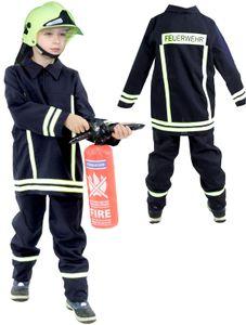 Feuerwehrmann Kostüm für Kinder, Größe:92/98