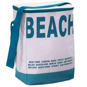 GKA Kühltasche türkis Beach 20 Liter im Soft-Design faltbar 35 x 28 cm mit Schultergurt Camping Strand Sommer