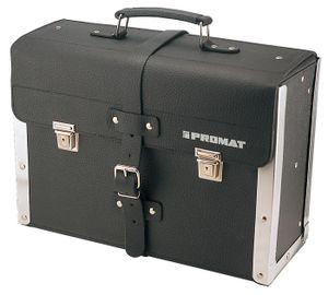 PROMAT Werkzeugtasche Rindleder schwarz 420x160x300mm lose Mittelwand