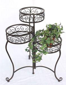 DanDiBo Blumentreppe HX12555 Blumenständer 63 cm mit 3 Körbe Hocker Blumenhocker Regal