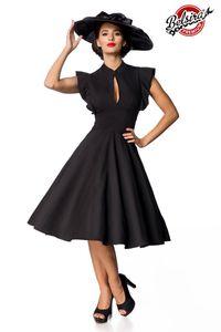 Retro Swingkleid mit Schmetterlingärmel, Farbe: Schwarz, Größe: M