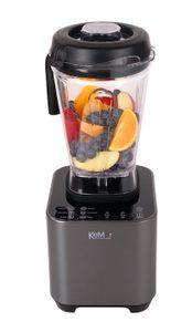 KeMar Kitchenware KSB-200M Hochleistungsmixer | Mixer | Standmixer | LED Touch Bedienfeld | 1 Behälter | BPA-frei | 6 Programme | Anthrazit