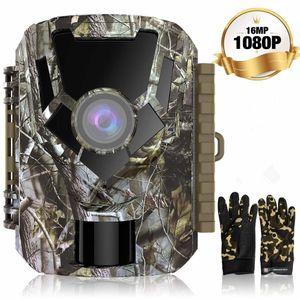 Wildkameras - Jagdkamera - Überwachungskamera--16MP 1080P HD-Kamera, PIR-Bewegungssensor, wasserdichtes IP65