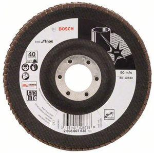 Bosch Bosch Fächerschleifscheibe für Inox und Metall125 mm K 40 X581 gewinkelt 2608607638