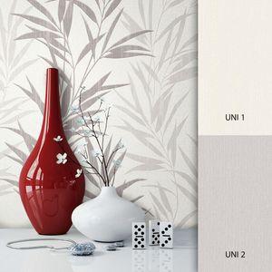 Blumentapete  Weiß Vlies  Floral Modern Natur Blumen Blätter  Hanson – Muster