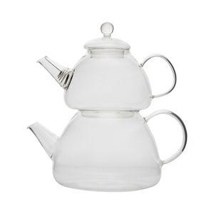 Teekannen aus Glas | 2,3L  Volumen | Cam Caydanlik | Borosilikatglas | Teekocher