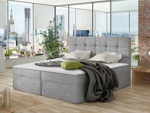 Mirjan24 Boxspringbett Nele, Ehebett mit zwei Bettkästen, Doppelbett mit Topper (Farbe: Muna 08, Größe: 180x200 cm)