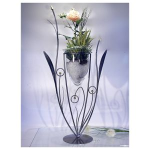 Formano - Windlicht 86cm Eisen - Blume