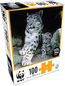 WWF Puzzle Schneeleopard (100 Teile) Snow Leopard Baby