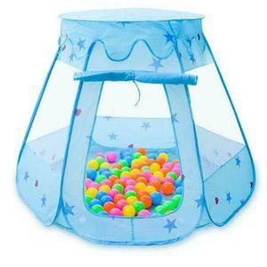 Kinder Baby Zelt Bällebad Ball Pool Kugelbad Bällchenpool Bällchenbad Spielzeug Kinderzelt Farbe : Blau