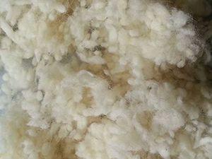 Schurwollkügelchen aus 100 % Schafschurwolle, natur, 1 kg