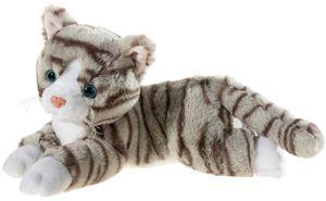 Heunec Plüschtier Misanimo getigerte Katze liegend