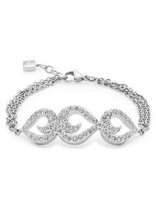 Leonardo 016053 Damen Armband Adorata Edelstahl weiß