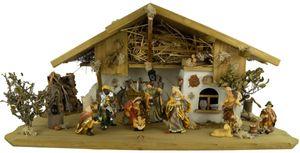 Traditionelle Weihnachtskrippe Hersbruck inkl. 12-tlg. Figurensatz K 001
