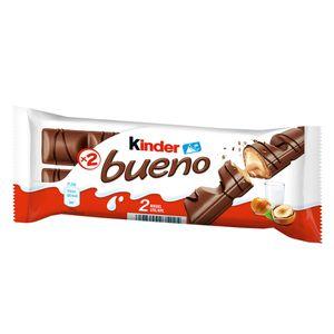 Kinder Bueno 2er Waffel Riegel mit cremiger Milchhaselnuss Creme 43g