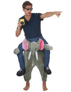 Witziges Elefantenkostüm Huckepack-Kostüm