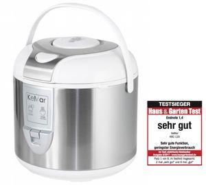 KeMar Kitchenware KRC-120 Reiskocher | Dampfgarer mit Warmhaltefunktion | Innentopf mit Titan-Keramik Antihaftbeschichtung | BPA-frei